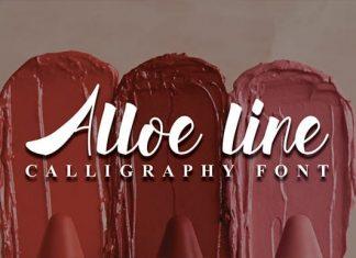 AlloeLine Script Font