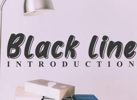 Black line Display Font