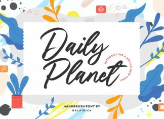 Daily Planet Handbrush Font