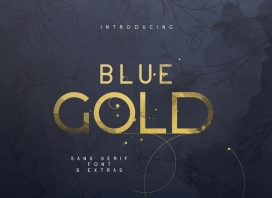 Blue Gold Sans Serif Font