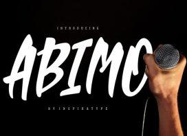 Abimo Script Font