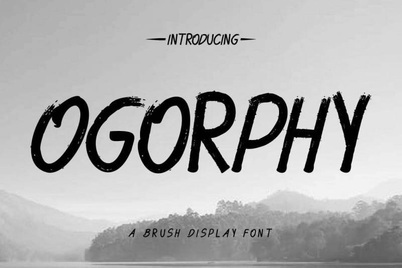 Ogorphy Brush Font