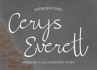 Cerys Everett Calligraphy Font