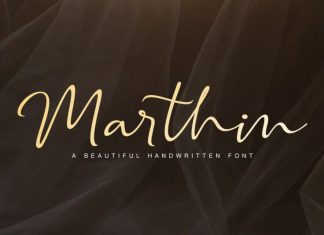 Marthin - Beautiful Handwritten Font