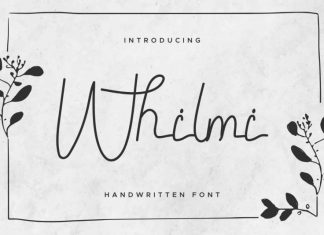 Whilmi Handwritten Font