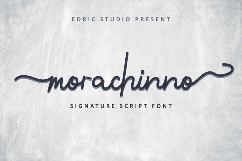 Morachinno Signature Font