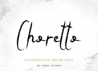 Choretto Handwritten Brush Font