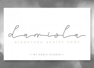 Damiola Handwriting Font