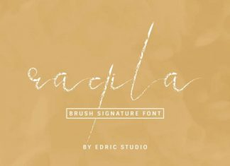 Raqila Rough Brush Signature Font