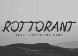 Rottorant Rough Font