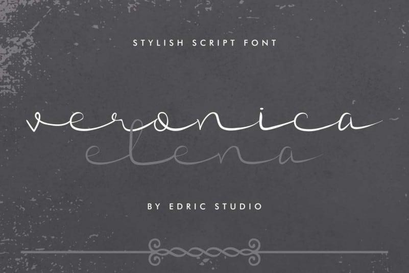 Veronica Elena Script Font