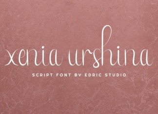 Xenia Urshina Calligraphy Font