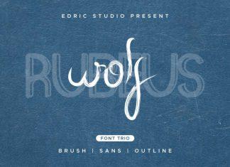 Wolf Rubeus Font Trio