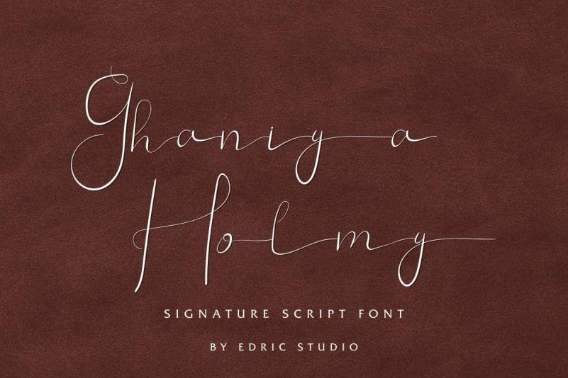 Ghaniya Holmy Script Font