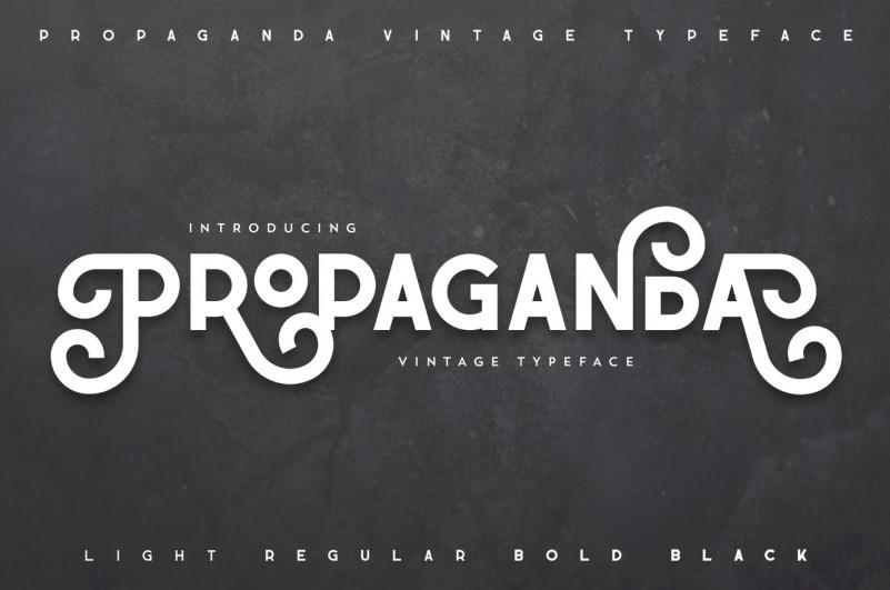 Propaganda Vintage Typeface