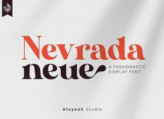 AL Nevrada Neue Display Font