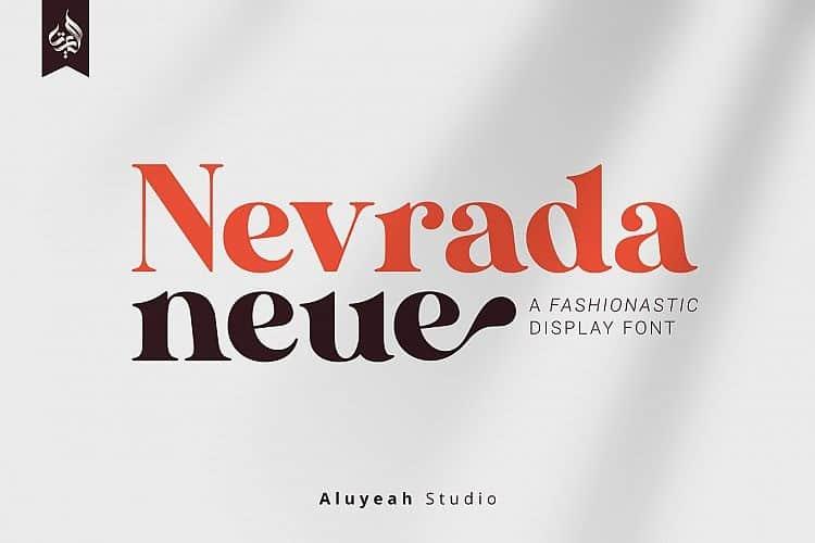 AL Nevrada Neue Display Font