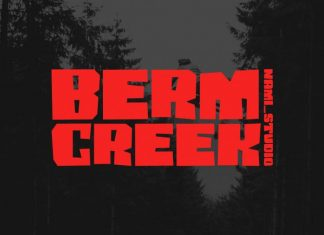 Berm Creek Display Font
