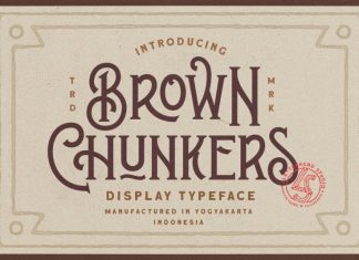 Brown Chunkers - Display Font