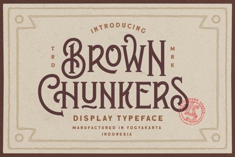 Brown Chunkers - Display Font