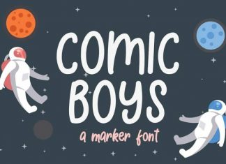 Comic Boys Display Font