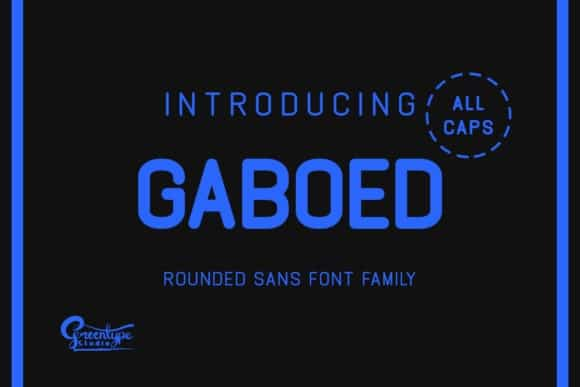 Gaboed Sans Font Family