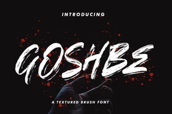 Goshbe Textured Brush Font