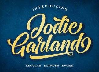 Jodie Garland Calligraphy Font