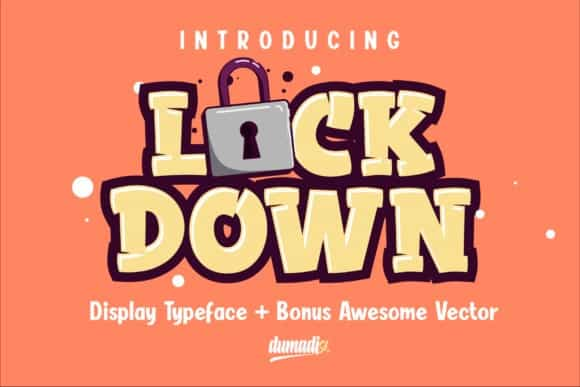 Lockdown Display Font