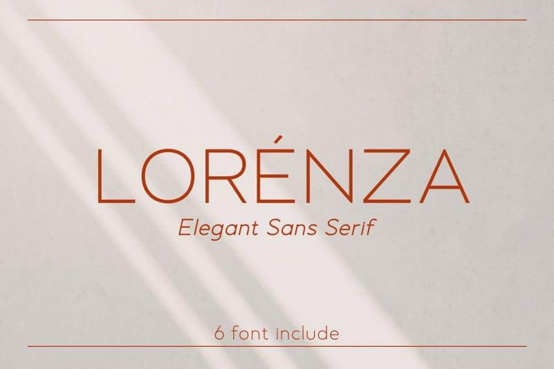 Lorenza - Sans Serif Font