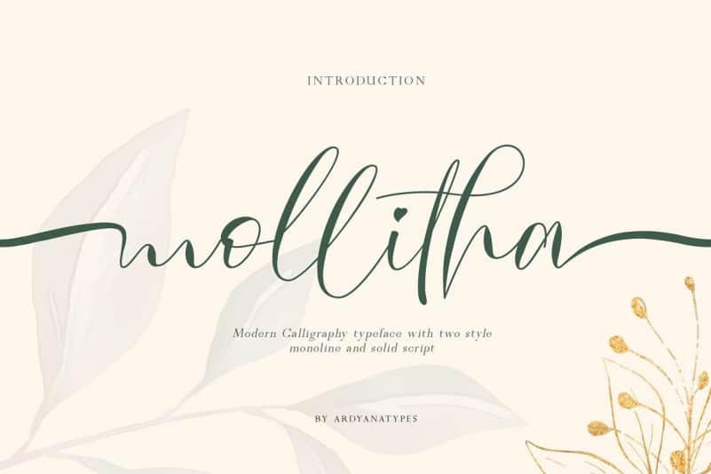 Mollitha Calligraphy Font