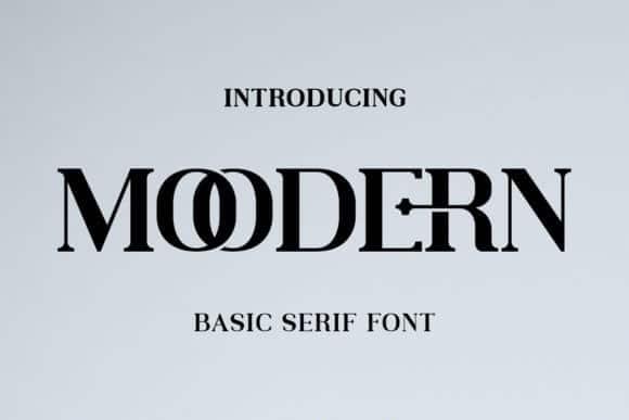 Moodern Typeface
