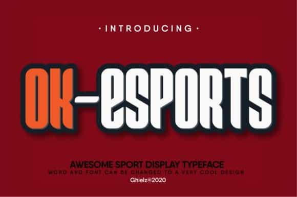 Ok-Esports Display Font