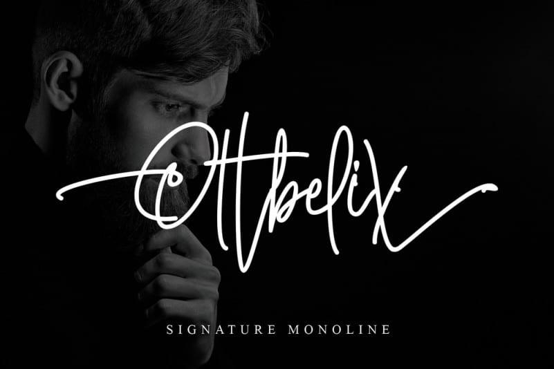 Ottbelix Signature Font