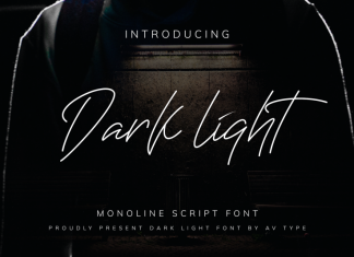 Darklight Monoline Script Font