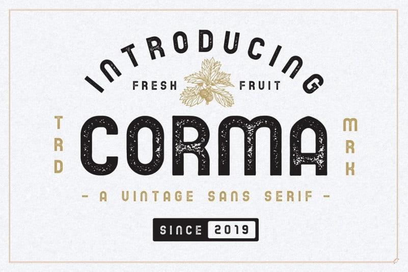 The Corma - Vintage Font