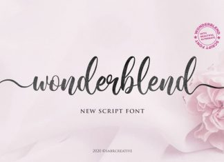 Wonderblend Calligraphy Font