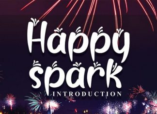 Happy Spark Display Font