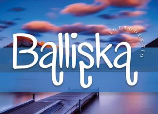 Balliska Handwriting Font