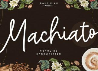 Machiato Monoline Handwritten Font