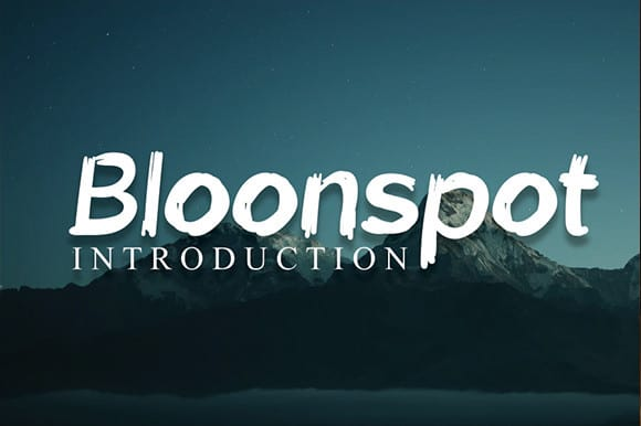Bloonspot Displays Font