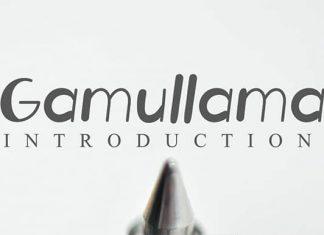 Gamullama Displays Font