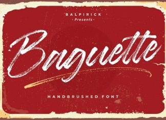 Baguette Natural Handbrushed Font