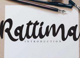 Rattima Bold Script Font