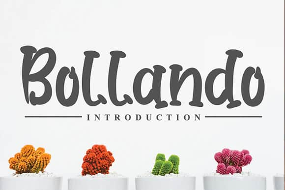 Bollando Displays Font