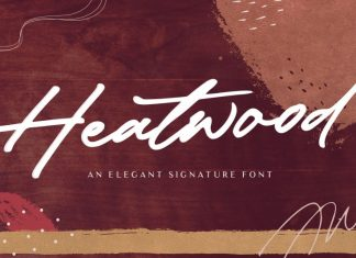 Heatwood - Elegant Signature Font