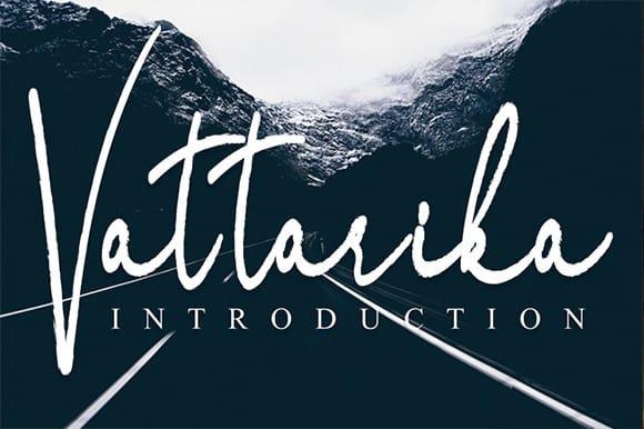 Vattarika Script Font