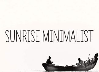 Sunrise Minimalist Font