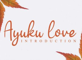 Ayuku love Script Font