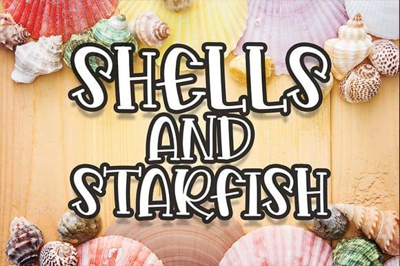 Shells And Starfish Display Font